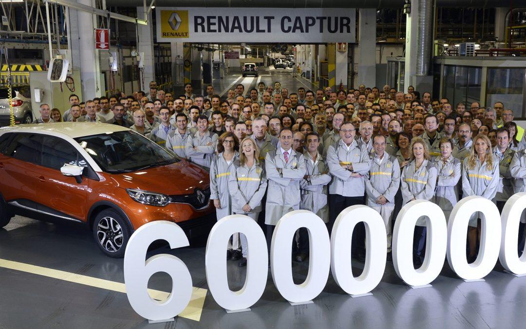 Sale de la planta de Valladolid, la unidad seis millones de Renault