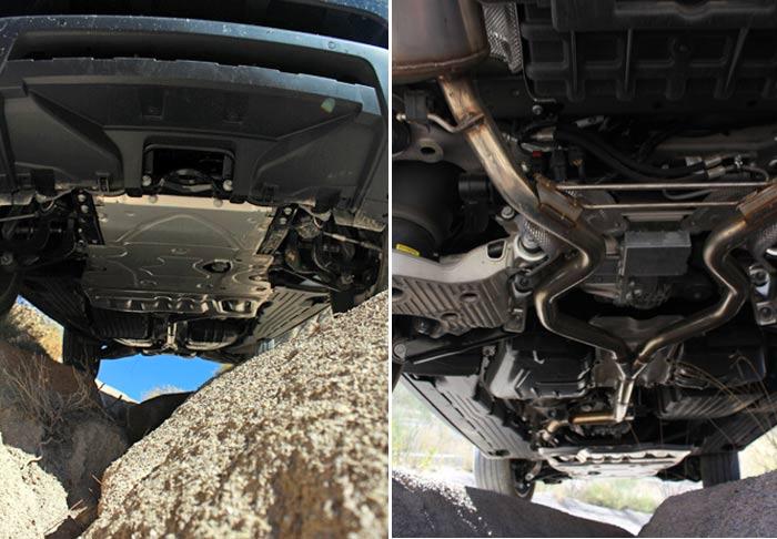 """Range Rover upskirt. Plancha para que """"patine"""" y lo que no va tapado queda poco expuesto a los golpes"""