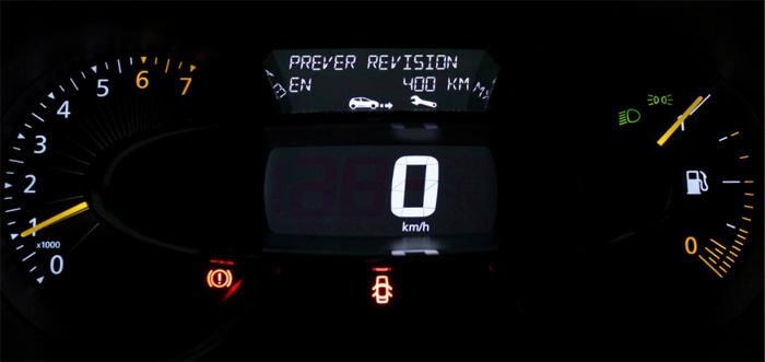Aviso de revision en 400 km