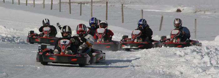 ice karting formigal grupo