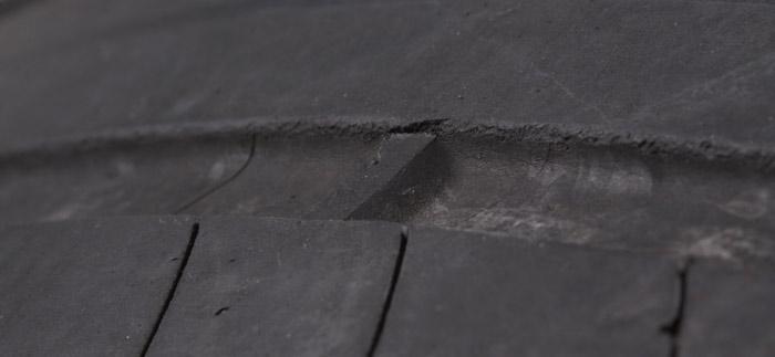 Renault Clio. Prueba 120 000 km. Neumático delantero Michelin Primacy 3con 44 000 km