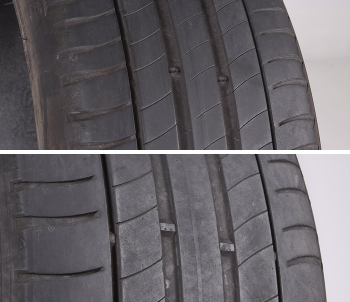 Estado de los neumáticos Michelin Primacy 3 con 44 000 kilómetros