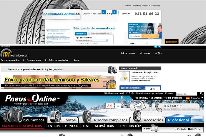 Tres páginas de internet que consultamos para comprar los neumáticos