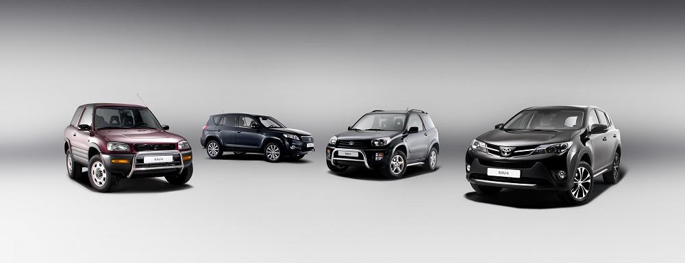 Novedades en la gama Toyota RAV4. Versión 20 Aniversario y repaso a su historia.