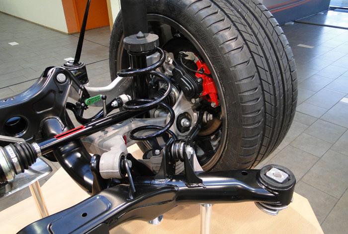 Porsche Macan. Suspensión posterior