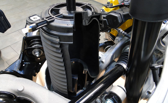 Porsche Macan. Muelle neumático