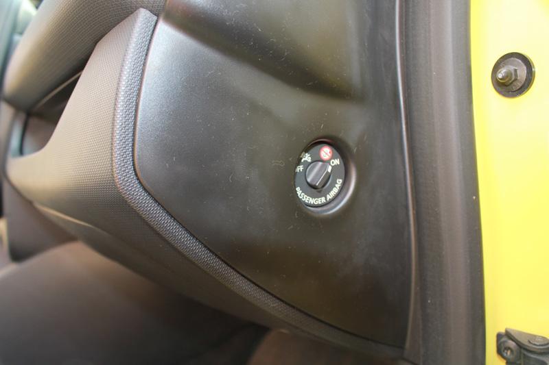 Desconexión del airbag frontal del pasejero delantero