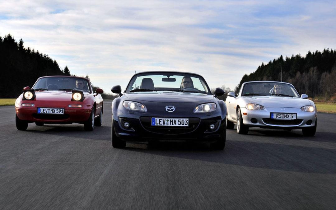 El Mazda MX-5 cumple 25 años. Repasamos su historia.