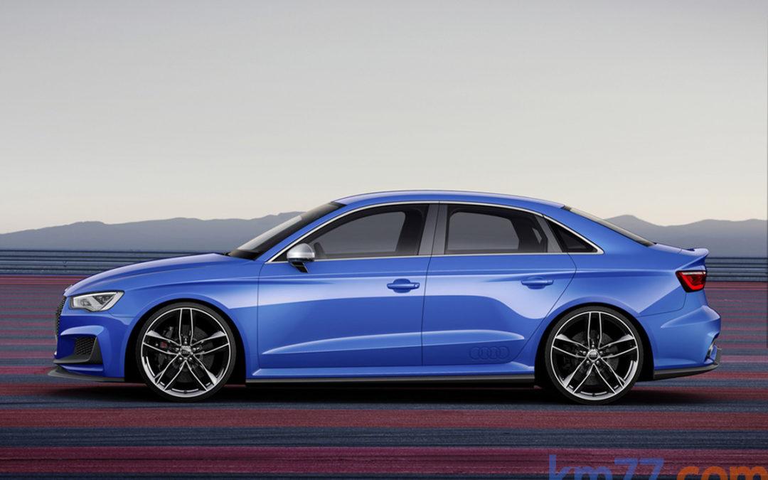 El Audi A3 Clubsport quattro en movimiento