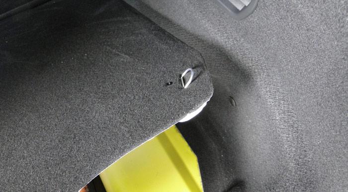 Citroën C4 Cactus. Fondo del maletero y argollas