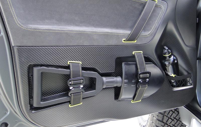 Škoda Yeti Xtreme. Cara interior de las puerts