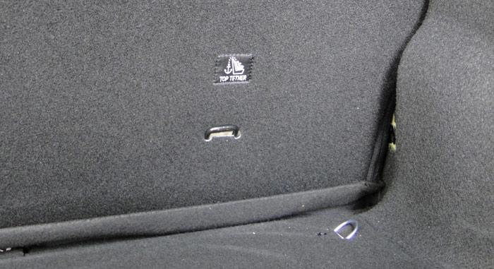 Citroën C4 Cactus. Fijaciones Top Tether y argollas en el piso del maletero