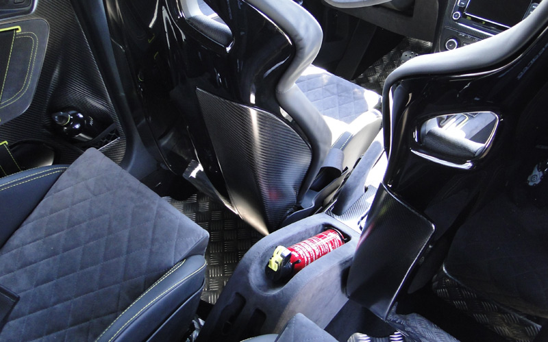 Škoda Yeti Xtreme. Extintor