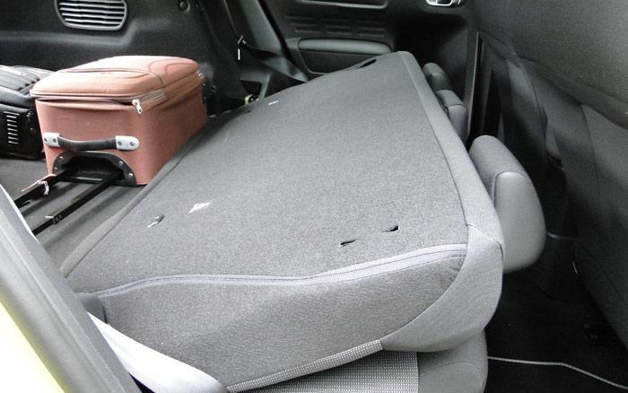 Citroën C4 Cactus. Asientos posteriores abatidos