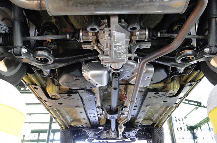 Fiat Panda Cross. Parte inferior de la carrocería