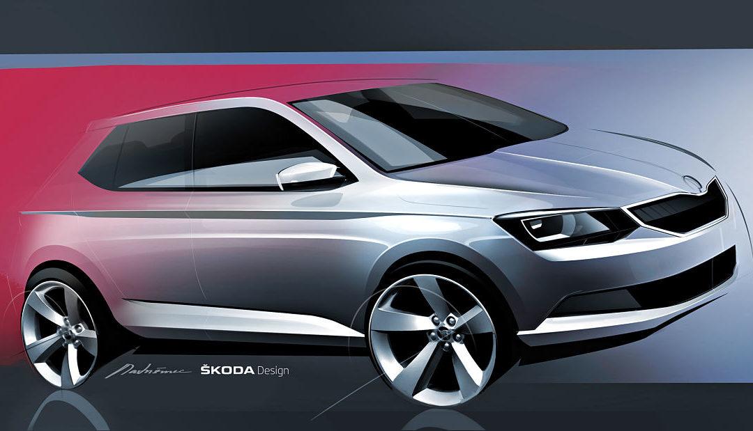 Škoda muestra el primer boceto del nuevo Fabia