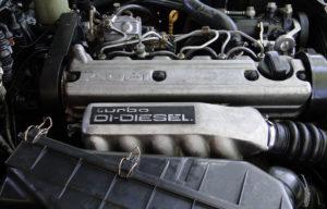 Audi 100 TDI (1989). Motor 2,5 litros