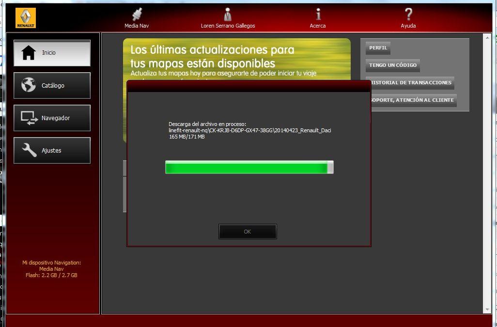 Actualización del software