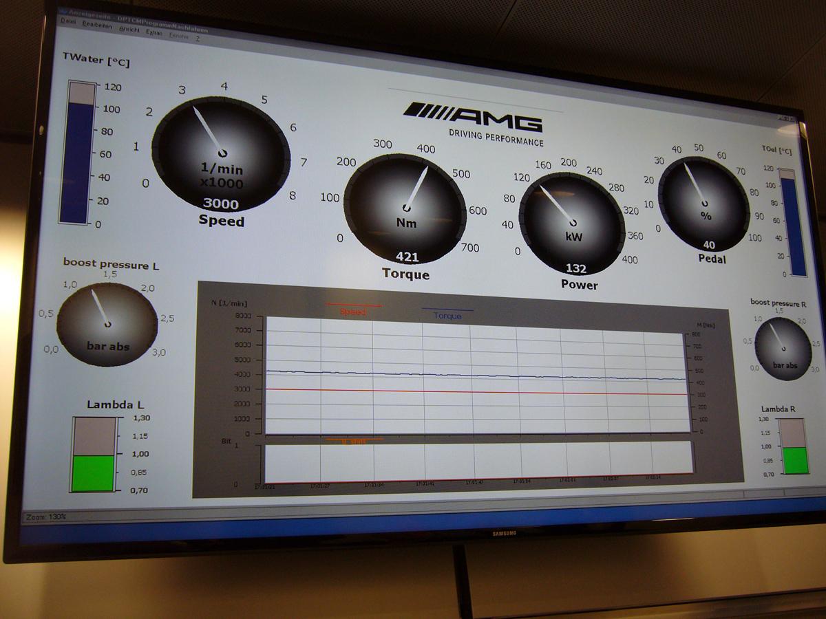 Algunos de los datos se podían ver en esta pantalla.