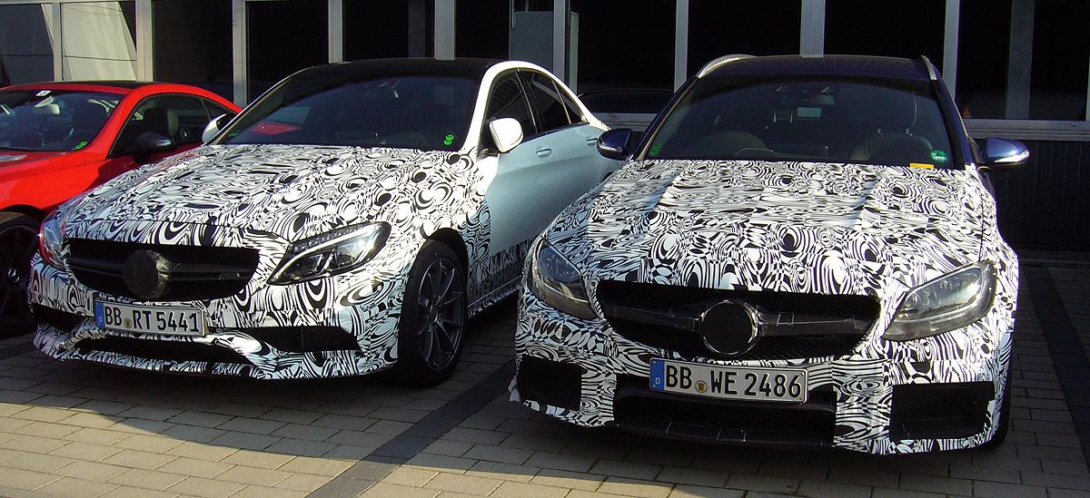 Son dos aún no-natos Clase C AMG. Este modelo se presentará en el Salón de París a principios de octubre.
