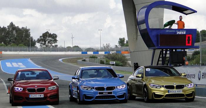 BMW Driving Experience. Gama de modelos disponibles