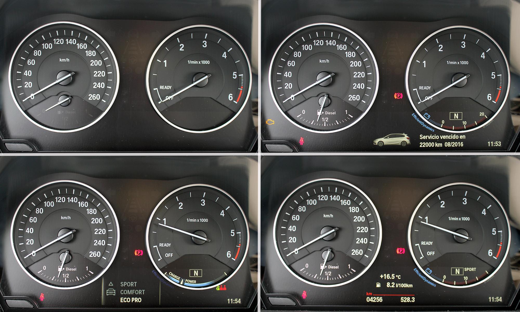 BMW Serie 2 Active Tourer. Cuadro de instrumentos