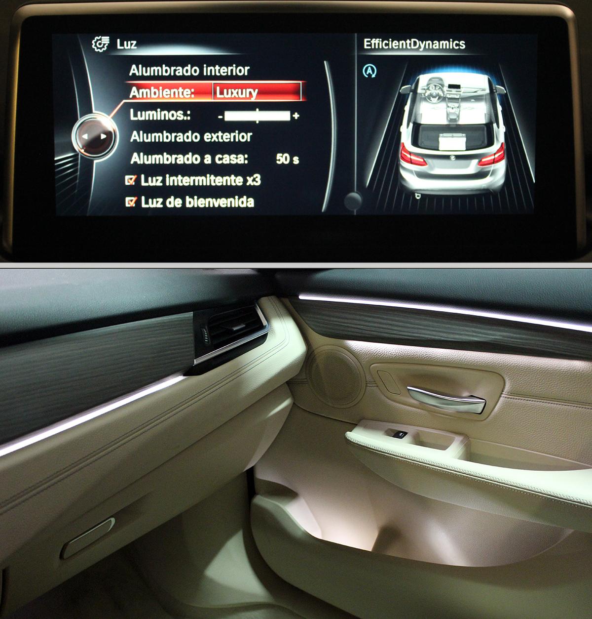 BMW Serie 2 Active Tourer. Luz ambiente