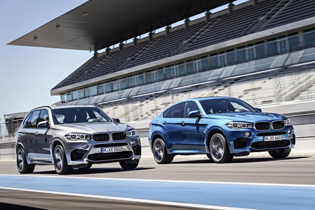 BMW X5 M y BMW X6 M frontal