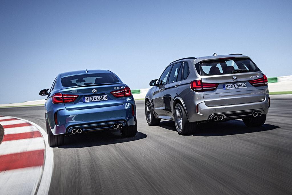 BMW X5 M y BMW X6 M trasera