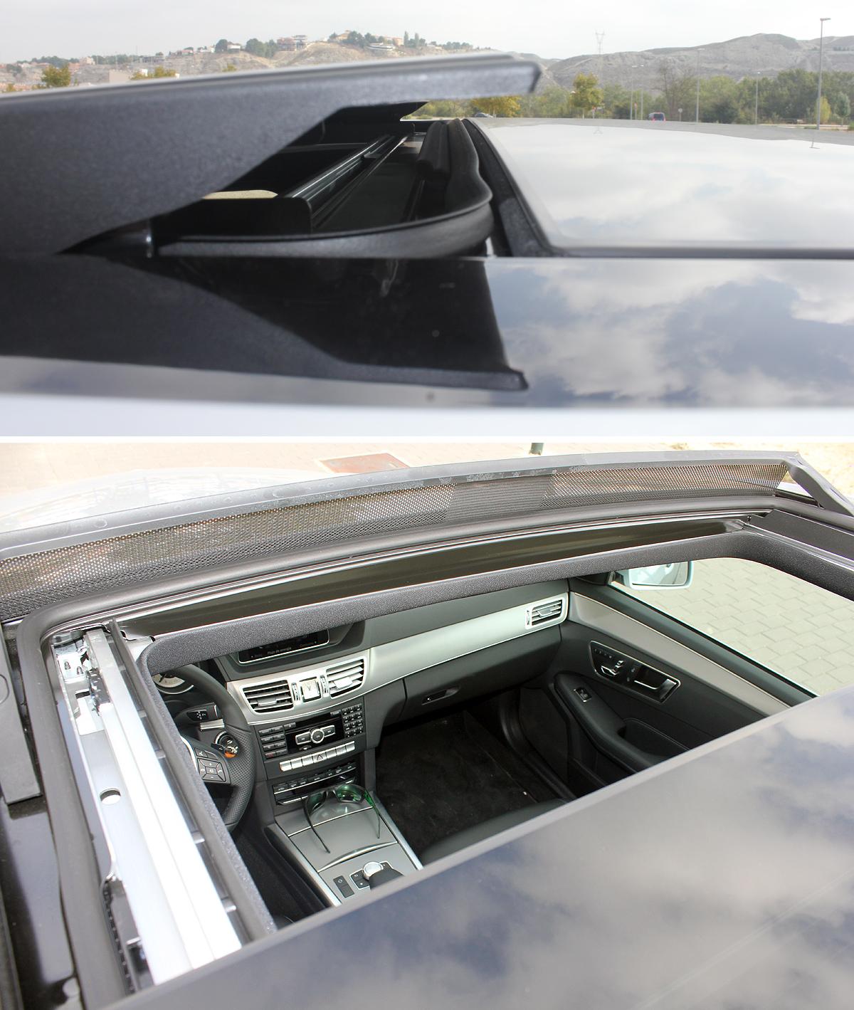 Mercedes-Benz Clase E (2013). Techo panorámico