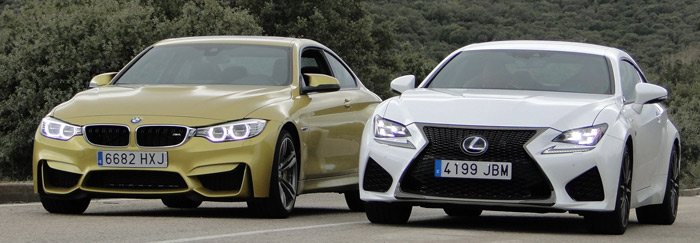 Lexus RC F vs. BMW M4 Coupé