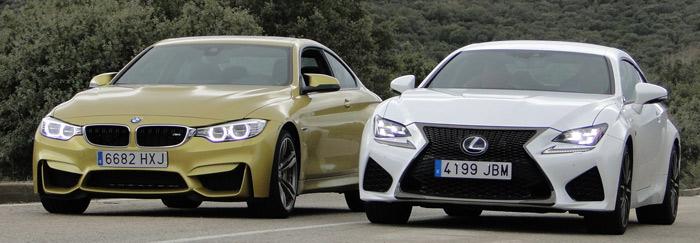 Lexus RC F vs. BMW M4 Coupé