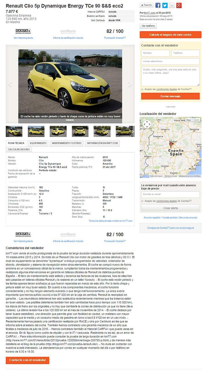 Anuncio Renault Clio TCe 90