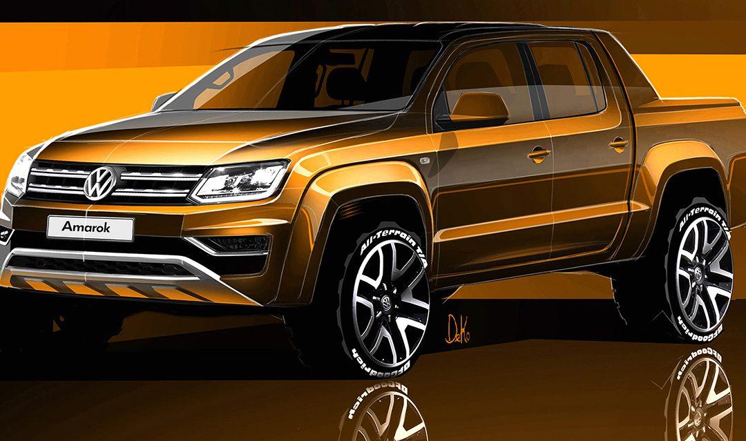 Primeros bocetos del nuevo Volkswagen Amarok