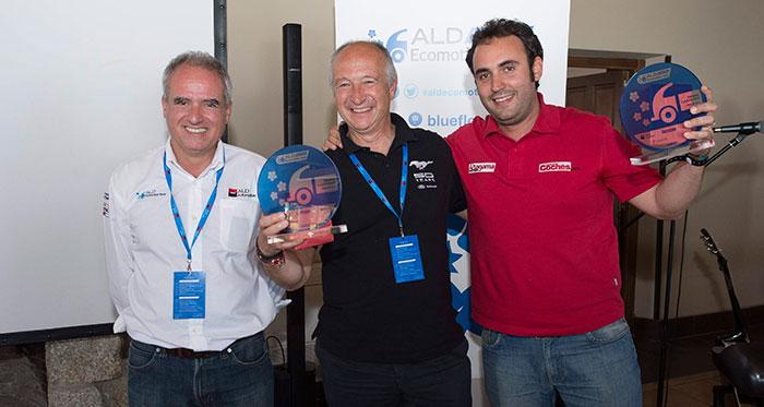 Y como no podía ser de otra manera (frase de rigor) los dos integrantes del equipo ganador junto a Pedro Malla, el Consejero-Delegado de ALD.