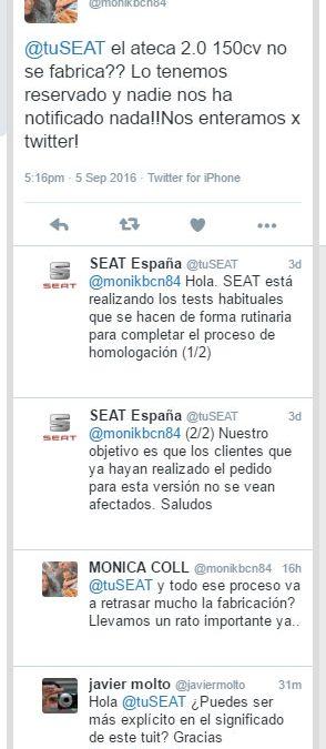 Seat suspende temporalmente la venta del Seat Ateca TDI de 150 CV