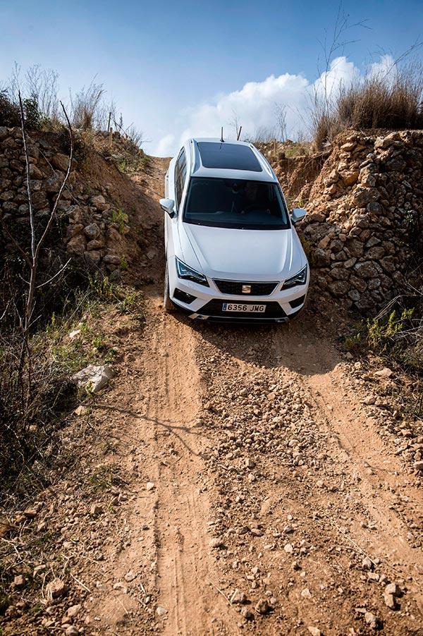 Otra demostración aparatosa, que en realidad depende de la adherencia de los neumáticos sobre el pavimento de que se trate, para que los frenos (y la retención del motor) puedan sujetar al vehículo.