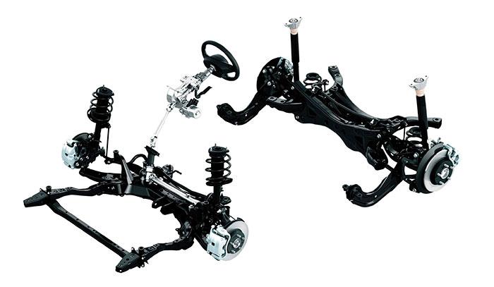 El bastidor de todos los Mazda (MX-5 aparte) con tren trasero independiente está prácticamente calcado de unos modelos a otros; prueba de que la marca está satisfecha con ese diseño, y lo mantiene para todos.