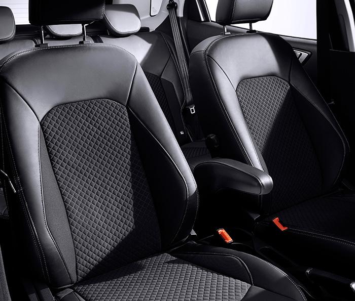 Estos asientos (que quizás correspondan exclusivamente a la versión europea) ofrecen un más que razonable apoyo lateral, ampliamente suficiente para el estilo de conducción que le corresponde al EcoSport.