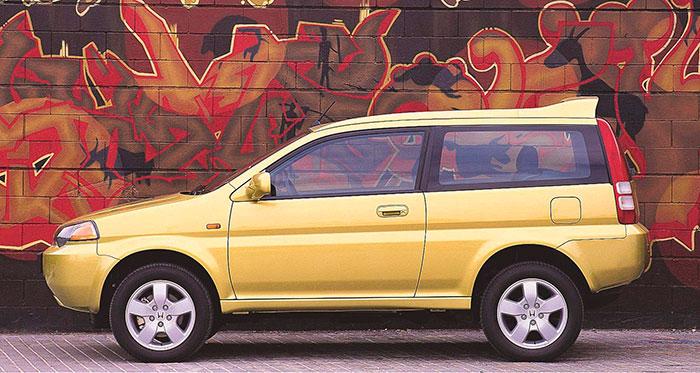 El HR-V nació en 1998, y disponía de esta curiosa y muy luminosa carrocería de tres puertas.