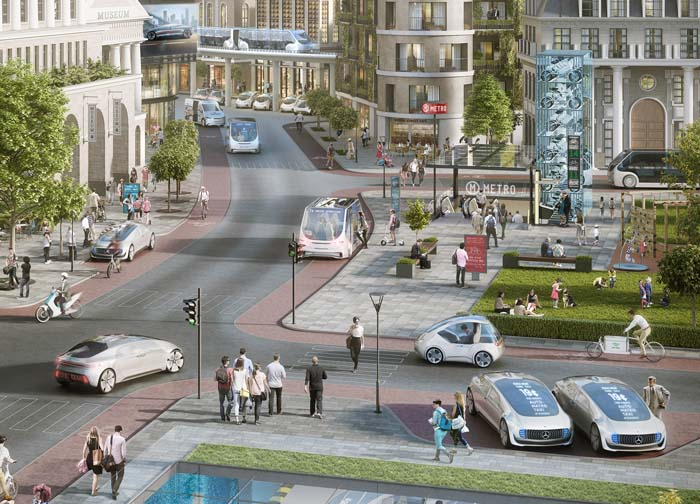 Bosch y Daimler anuncian para 2020 un sistema de taxi urbano sin conductor
