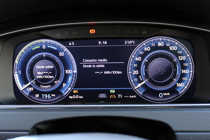 02 Volkswagen eGolf-Consumo Salida