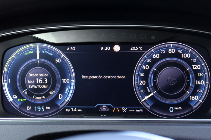 04 Volkswagen eGolf -Recuperacion Desconectada
