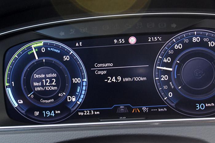 12 Volkswagen eGolf -Cargar -24.9kWh