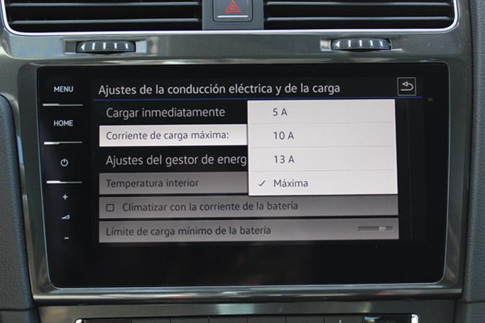 14 Volkswagen eGolf -Cargar Maxima