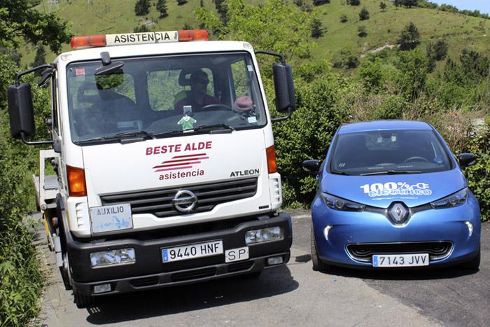 46-Bilbao Rallye- La Asistencia del coche viene