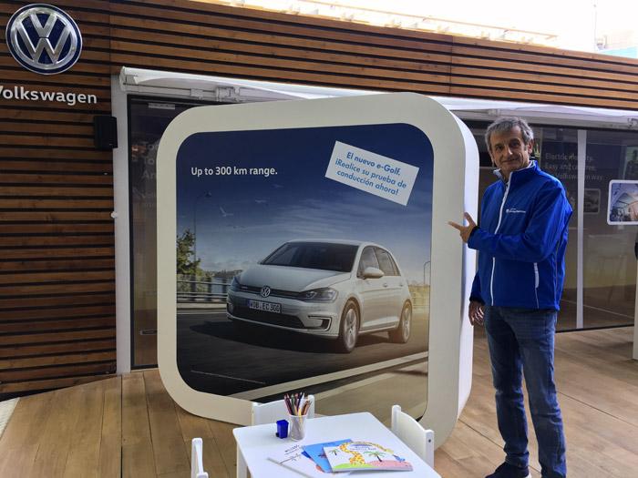Volkswagen e-Golf ePower. 25 kilómetros por Barcelona. Batería de 36 kWh.