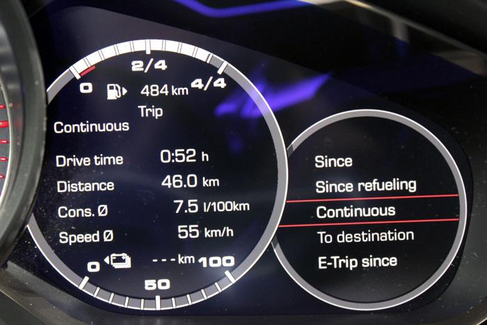 Porsche Panamera Sport Turismo Consumo