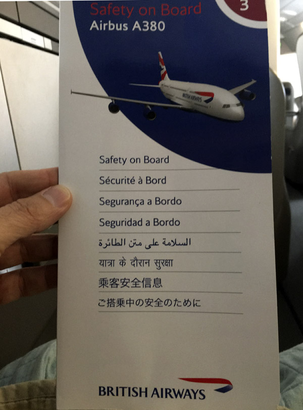 16-Airbus 308- Safety Information