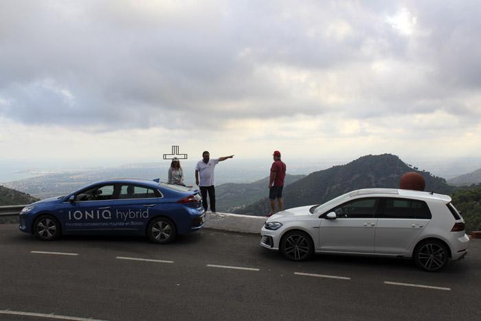 14-Volkswagen Golf GTE. Hyundai Ioniq. IV Eco RallyeComunitat Valenciana